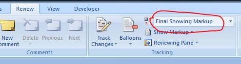 how to stop showing edits in word